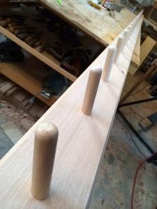 4 metre timber coat rack