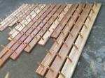 recycled timber coat racks