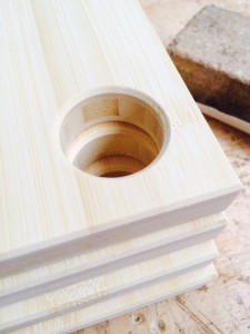 Bamboo serving board detail