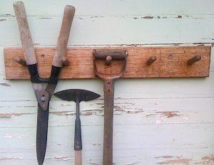 coat rack tool storage garden tools