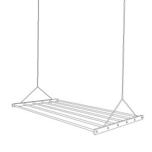 drying rack line drawing
